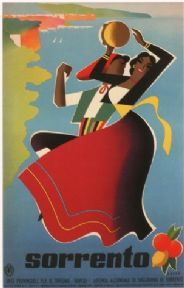 Vintage Travel Poster Sorrento Italy